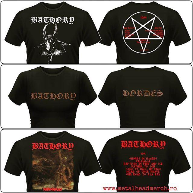 Tricouri oficiale Bathory pentru fete si băieți. Accesati www.metalheadmerch.ro pentru mai multe modele. #romania #tricouri #bathory