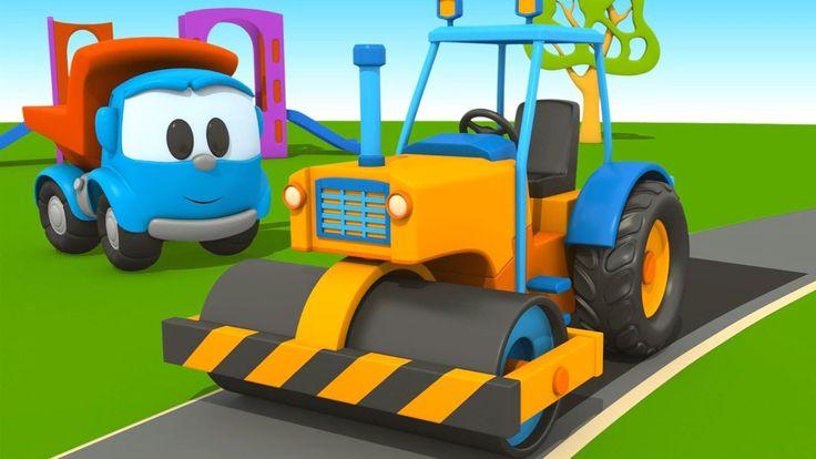 Leo il camion curioso e l'asfaltatrice! | cartoni animati per bambini