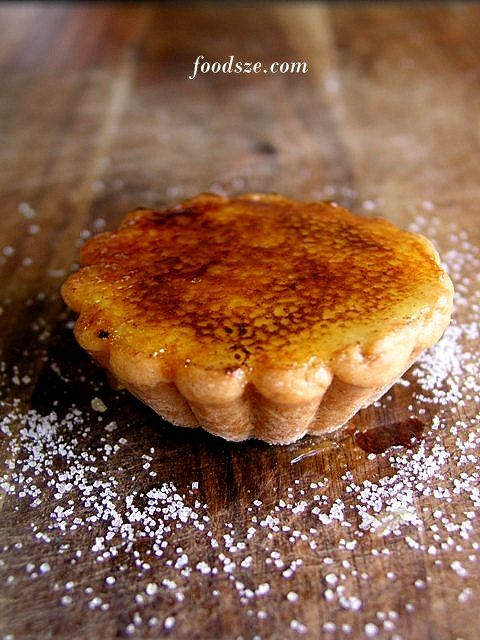 Vanilla Brulee Tarts with Strawberry Puree from Bourke Street Bakery. I miss these soooo much.