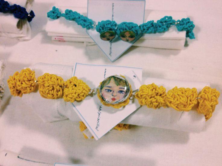 Jewellery, crochet, string, face, illustration, design, handmade