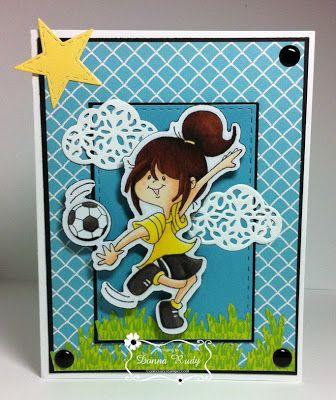 """ONECRAZYSTAMPER.COM: Soccer Star by Donna using High Hopes Stamps """"Soccer Star""""…"""