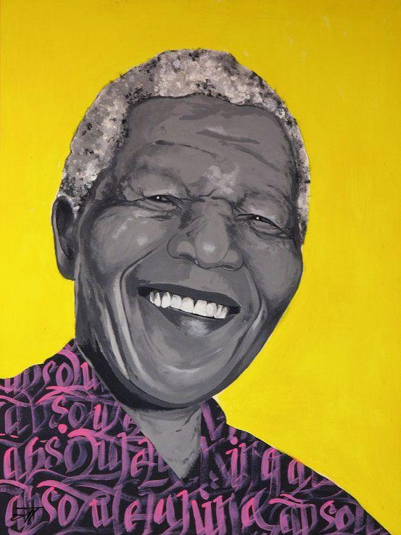 Nelson Mandela A4 & postcard di Atardivo su Etsy