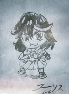 THE ART OF WALLIS : SMALL SKETCHES OF THE WEEK  Ryūko Matoi & Senketsu Of Kill La Kill   #anime #killlakill #Chibi #SD #ryukomatoi #senketsu
