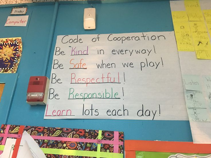 Code of Cooperation used in a Kindergarten classroom