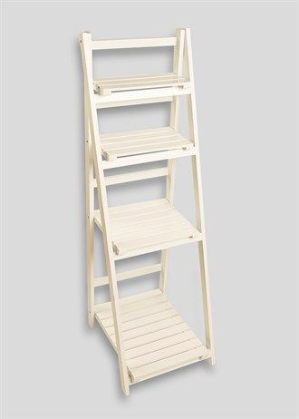 Slatted Bathroom Shelving Ladder Unit (40cm x 45cm x 124.5cm)
