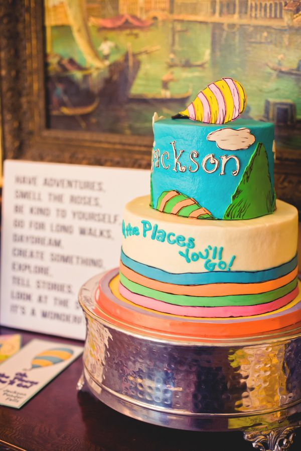 Oh the Places You'll Go cake