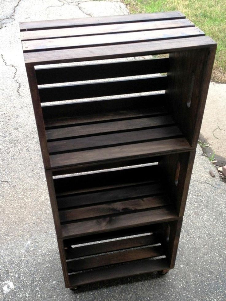 Create a Crate Bookshelf.  Instructions at http://www.plumbersurplus.com/Projects