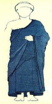 Vestido babilónico común a la 3ra dinastía de Ur (ca. 2050-1950 a.C.)