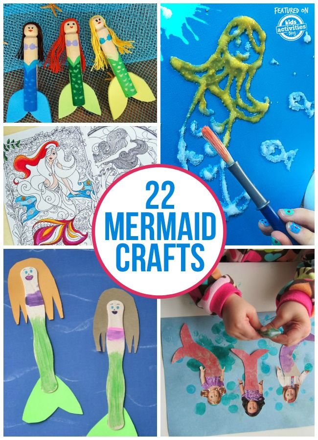 For everyone that wishes they had one of those gorgeous, sparkly tails, here are a bunch of fun mermaid crafts to make.