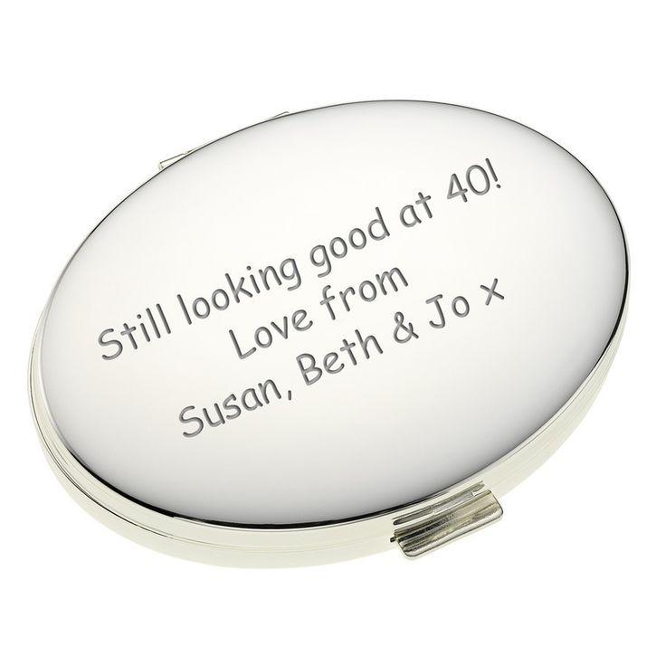 Personalised Oval Handbag Mirror   The Personalised Gift Shop