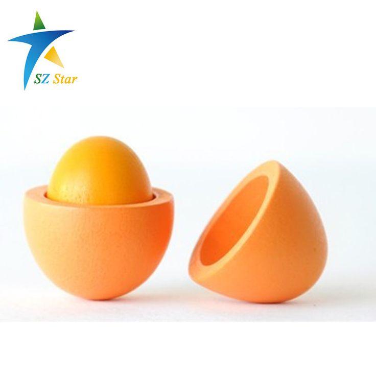 Gratis verzending Hoge kwaliteit Voorschoolse Educatief Kid niet-giftig Fantasiespel Speelgoed Houten Eieren Yolk Keuken Voedsel Kinderen Games