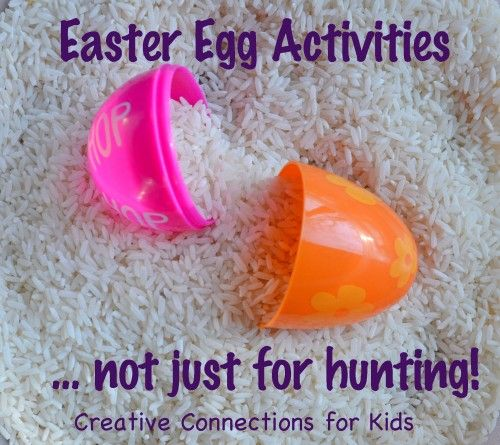 Activities using plastic easter eggsFun Easter, Eggs Activities Not, Fun Activities, Creative Connection, For Kids, Plastic Eggs Ideas, Easter Eggs, Easter Activities, Plastic Easter