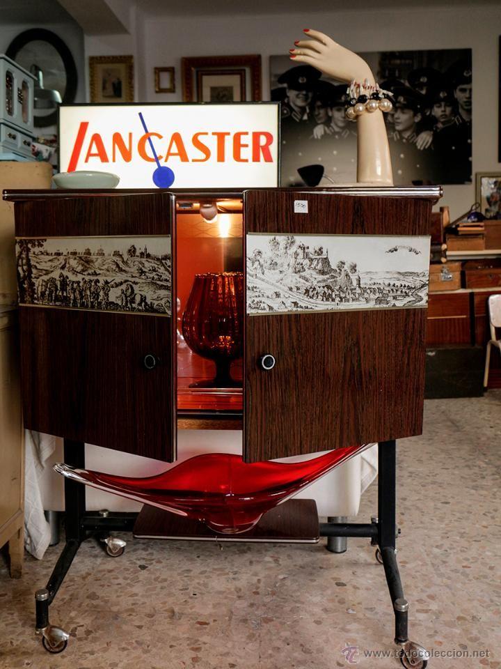 Mueble bar a os 60 con luz formica y metal el desv n de - Muebles vintage sevilla ...