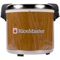 Town 56918 92 Cup Commercial Rice Warmer with Woodgrain Finish - 120V