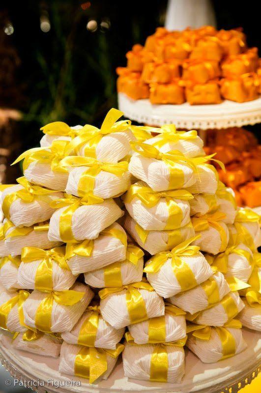 Solteiras Noivas Casadas: Decoração do Casamento - Amarelo, Laranja e Branco