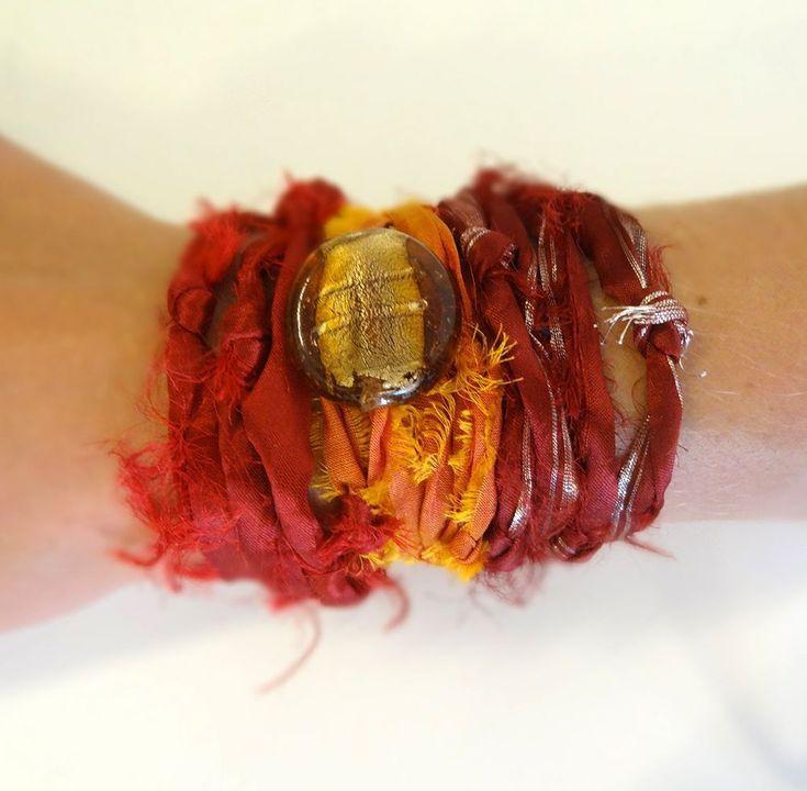 Zijde Wrap Armband Oranje - bestellen