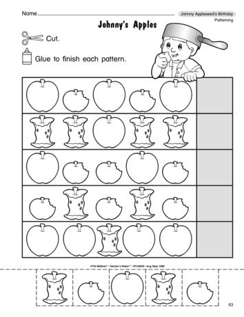 Apple Math Worksheets Kindergarten