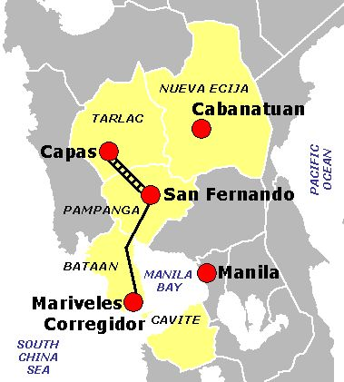 バターン半島 ファイル:Bataan Death March route.PNG - Wikipedia