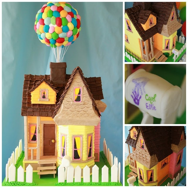 'Up' movie party.: Movie Parties, Theme Parties, Kids Birthday Parties, Theme Cakes, Kids Cakes, Rainbows Parties, Parties Ideas, Gingerbread Houses, Birthday Cakes
