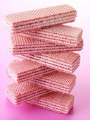 Pink wafer cookies
