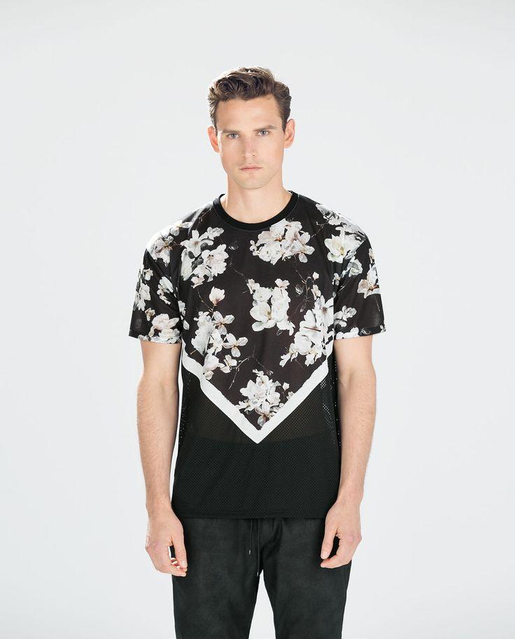 ZARA - メンズ - 花柄プリントTシャツ
