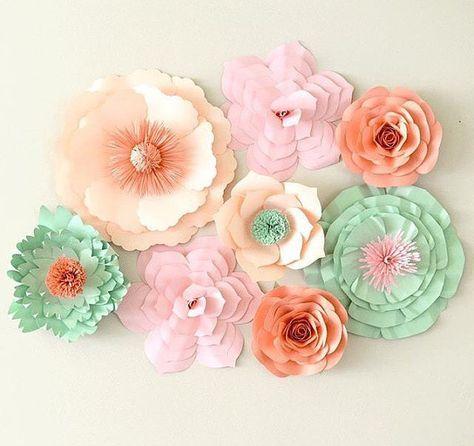 Paper Flower Backdrop Paper Flower Centerpiece by APaperEvent