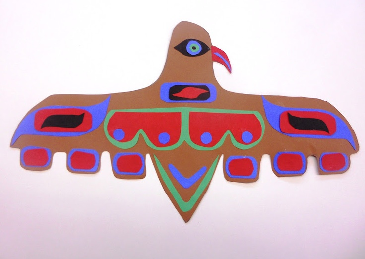 Cut paper Pacific Costal Indian art