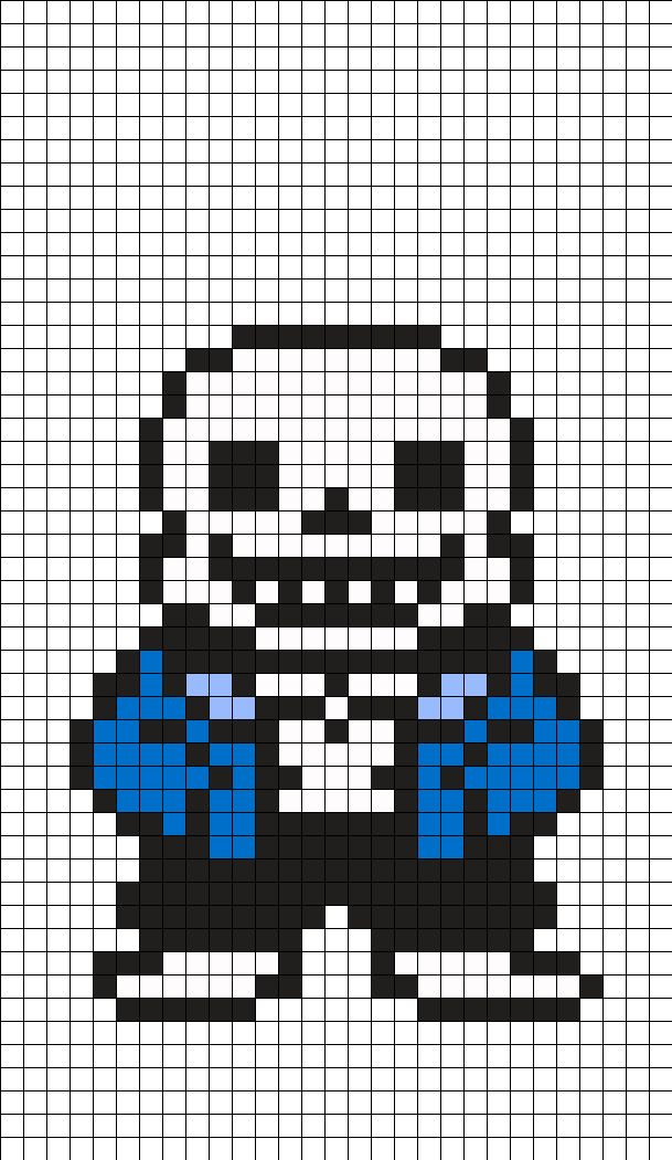 Epic face minecraft grid papyrus undertale perler bead pattern