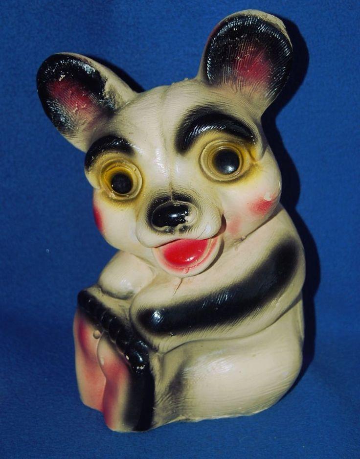 "Vintage Bank Chalkware Teddy  Bear Large Old Primitive Weird Smiling 10""  #Chalkware #Bears #Vintage #VintageBank #Bank"
