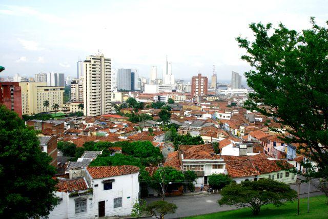 Vista de Cali desde el barrio San Antonio, en el occidente de la ciudad.