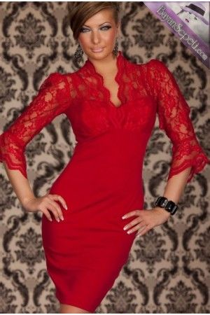 Kırmızı Mini Club Elbise   Bayan Sepeti Sexy Dress.