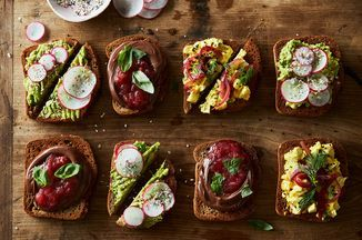 Spice up your traditional egg salad with warming spices and quick pickled red onion.