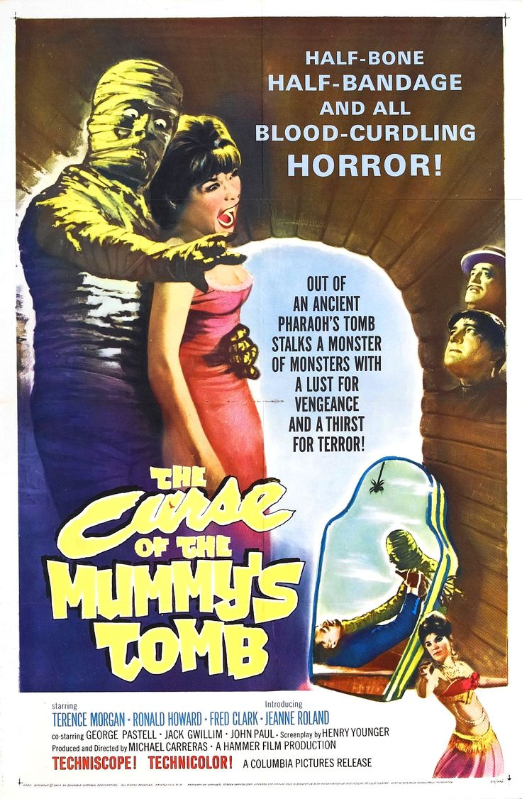 The Curse Of The Mummy's Tomb (1964) Hammer Horror Film - Movie Posters https://www.youtube.com/user/PopcornCinemaShow