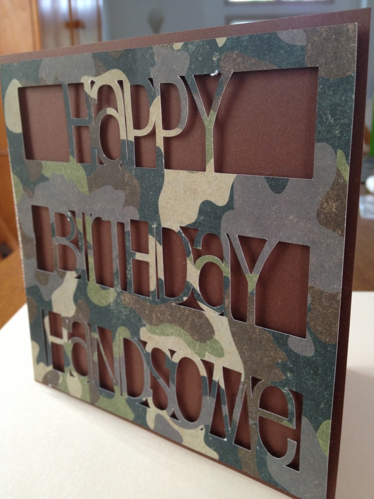 36 best huntingwildlife cards images on pinterest cards camo birthday card idea for the outdoorsy simple man in your life bookmarktalkfo Image collections