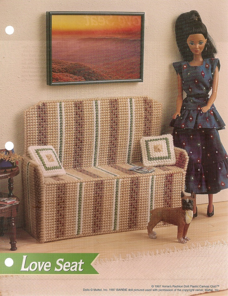 Love Seat Fashion Doll Furniture Plastic Canvas Pattern Love Seat Furniture And Boys