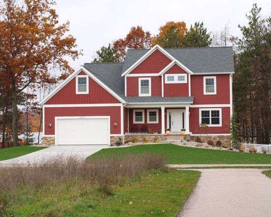 Red House With White Trim This Is What I Would Paint My Future Home Dream Ideas Pinterest Houses And Exterior Colors