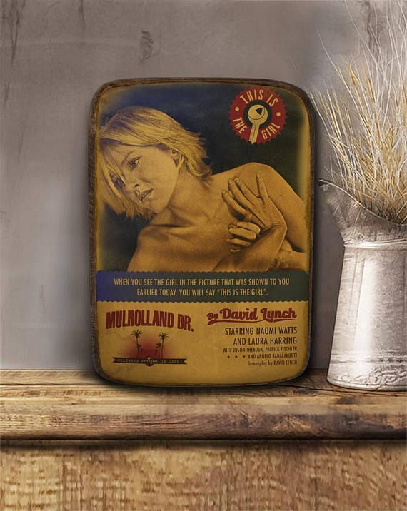 Mulholland drive David Lynch Wooden hanging frame