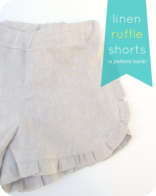 homemade by jill: ruffle shorts: a pattern hack.  These are so cute!