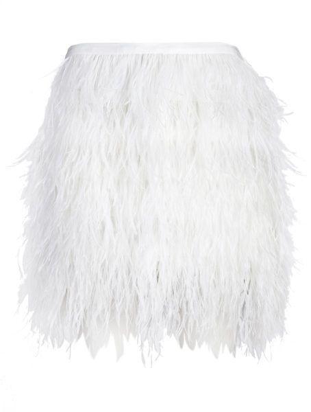 JENNIE KAYNE Feather Skirt - Lyst