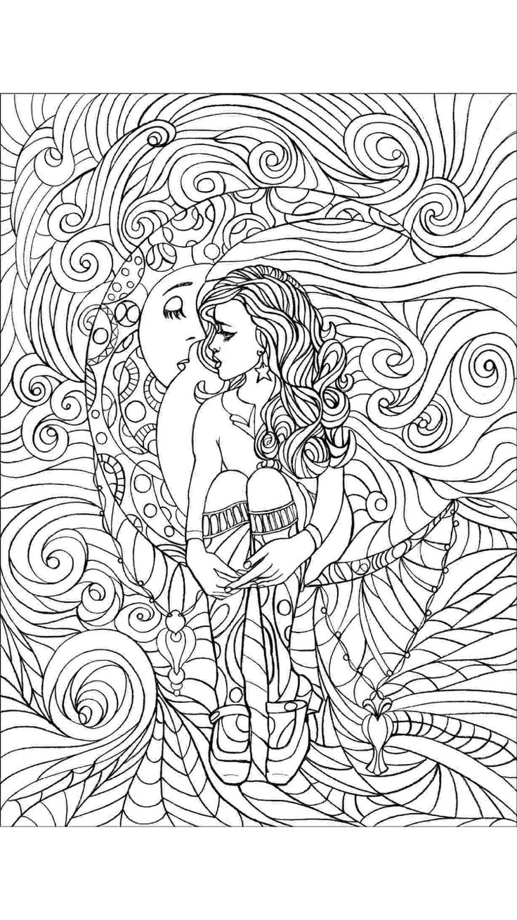 Coloring pages portraits - Coloring