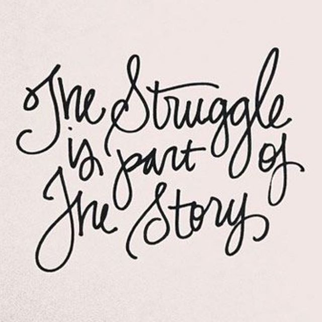I need to remember this. Fight for it, be victorious, overcome, don't give up.