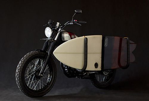 Deus Ex Machina (Deus Customs) Surf Motorcycle. Based on a Yamaha Scorpio. Via Knstrct.