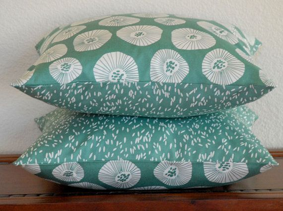 New Pillows for the living room in Lotta Jansdotter fabric from PillowMia.