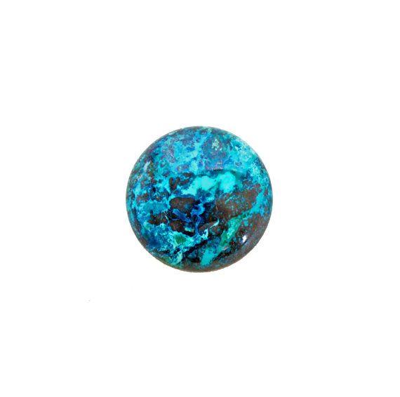 Chrysocolla round cabochon 36.00 carat by SARAHHUGHESfinegems