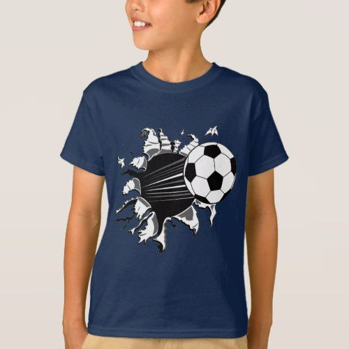 Soccer Ball Busting Out T-Shirt