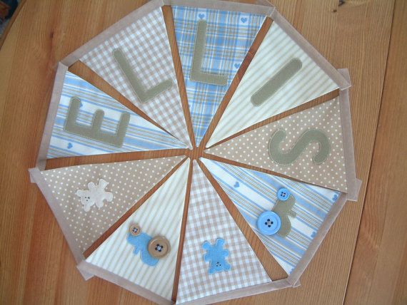 Personalised banner custom bunting. Unisex. by patchworkpawprint, £2.20