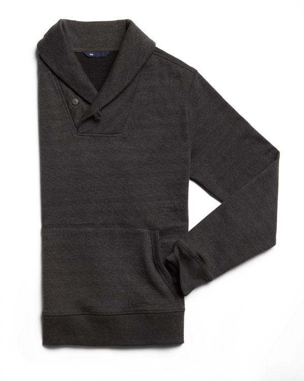 Double knit shawlneck #GapLove
