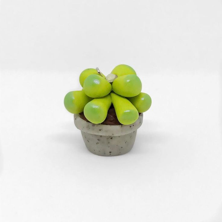 Potted Succulent polymer clay charm (@thislilcharmer)