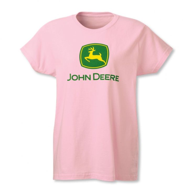 17 best images about john deere women 39 s shirts on for Pink ladies tee shirts