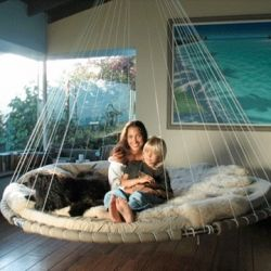Floating Bed: Round Beds, Idea, Dreams Houses, Hanging Beds, Awesome, Future, Floating Beds, Kid, Swings Beds